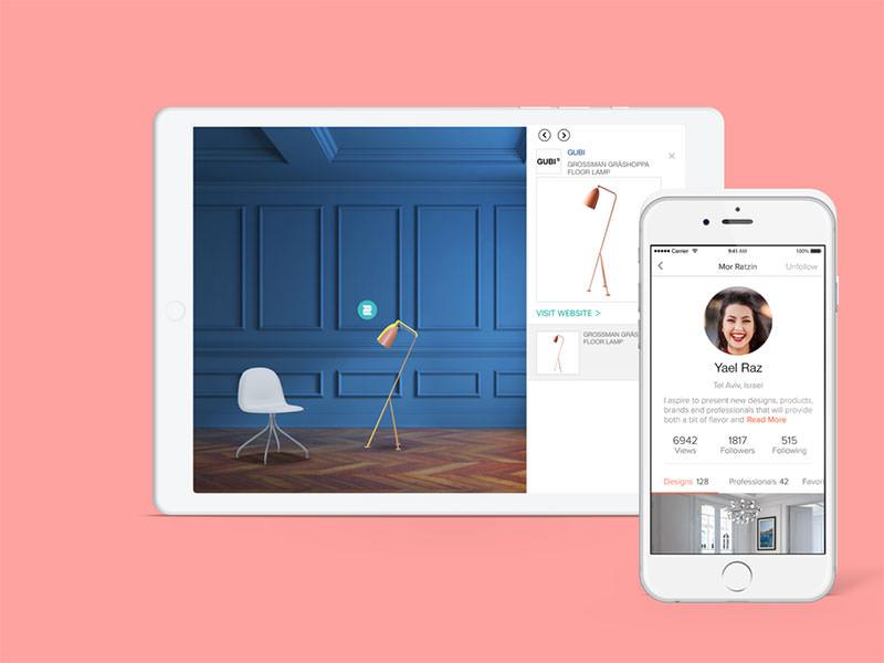 نمایی از اپلیکیشن Homestyler در آیپد و آیفون