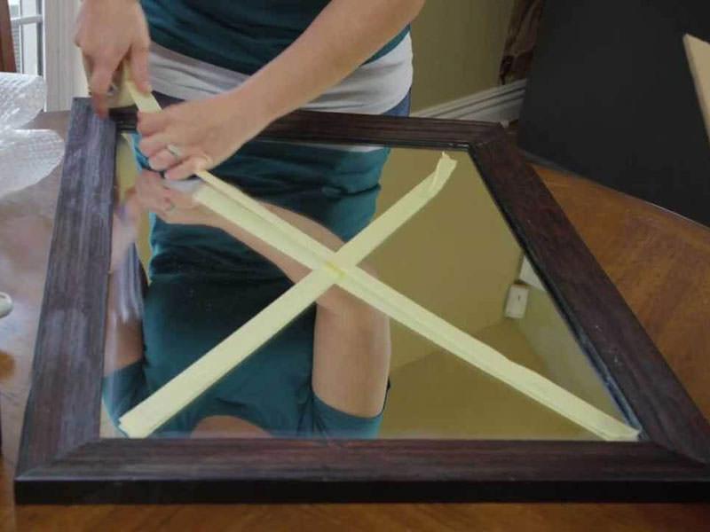 چسباندن ضربدری صفحه آینه